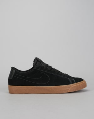 Nike SB Zoom Blazer Low Skate Shoes - Black/Black-Anthracite