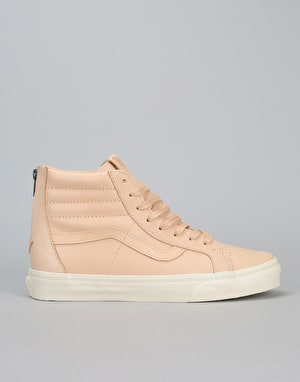 Vans Sk8-Hi Reissue Zip DX Skate Shoes - (Veggie Tan Leather) Tan