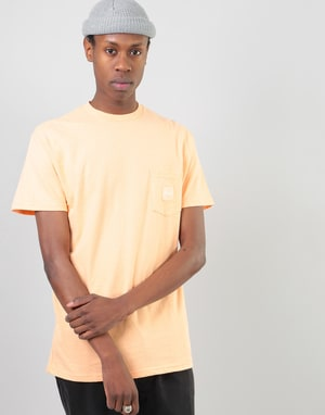 HUF Box Logo Pocket T-Shirt - Peach