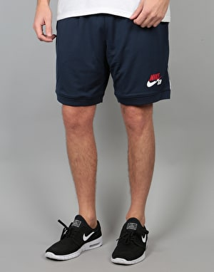 Nike SB Court Shorts - Obsidian/University Red