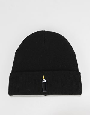 Route One Flames Beanie - Black