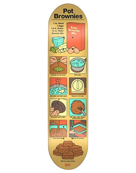 Skate Mental Pot Brownies Team Deck - 8.1""