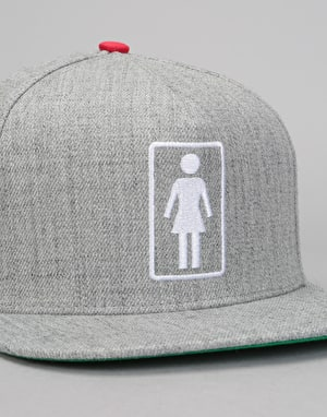 Girl Everyday OG Snapback Cap - Grey