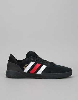 Adidas City Cup Skate Shoes - Core Black/Scarlet/White