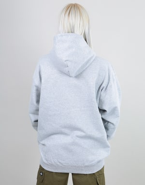 Thrasher Womens Flame Logo Oversized Pullover Hoodie - Heather Grey