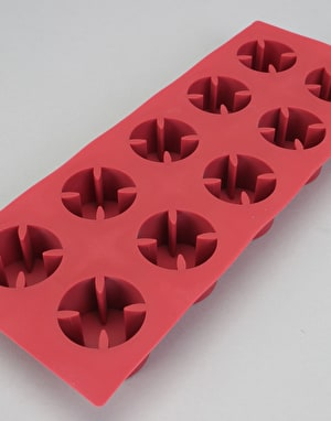Independent Cross Ice Cube Tray - Red