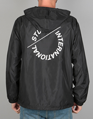 Stüssy Nylon Pop Over Jacket - Black