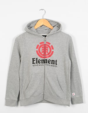 Element Vertical  Boys Zip Hoodie - Grey Heather