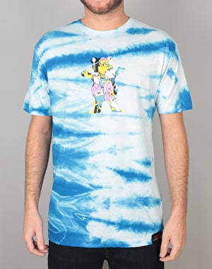 Grizzly x Adventure Time Like Your Brain & Stuff T-Shirt - Tie Dye