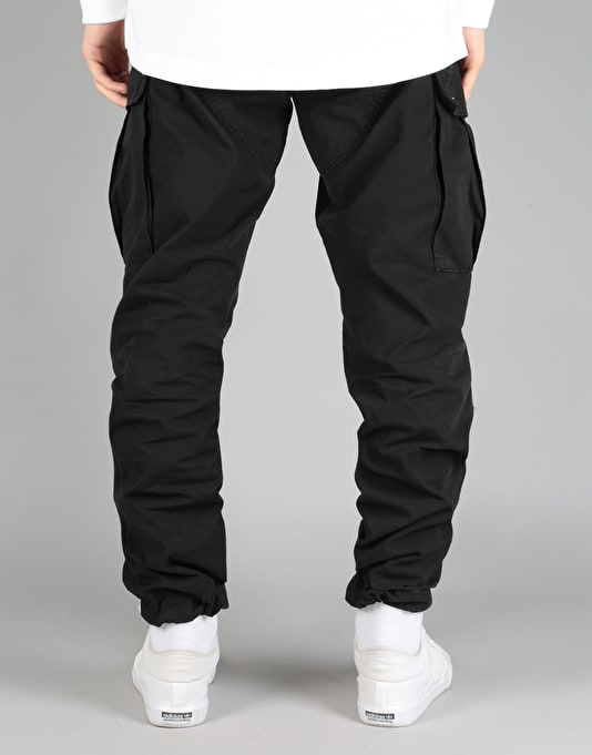 Route One Cargo Pants - Black