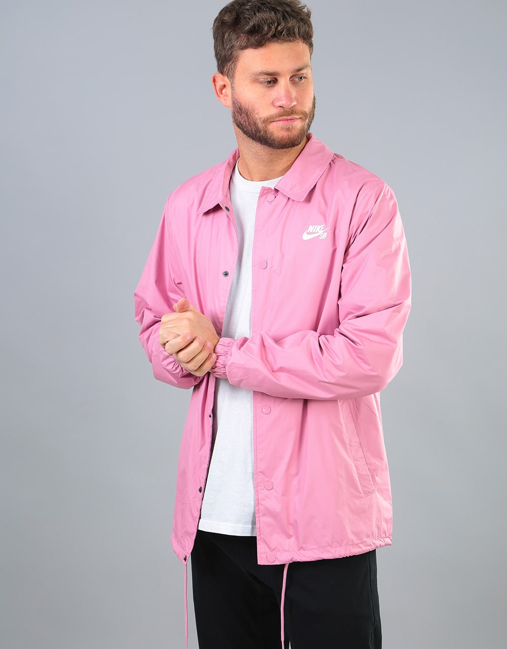 Nike Sb Shield Coaches Jacket Elemental Pink White