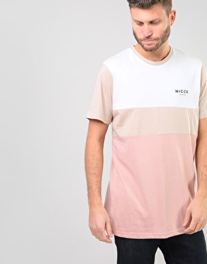 Nicce Treble T-Shirt - Warm Sand/Dusty Pink