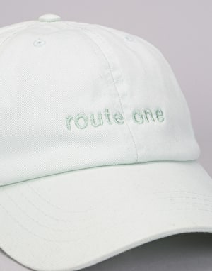 Route One Embroidered Logo Dad Cap - Pastel Mint
