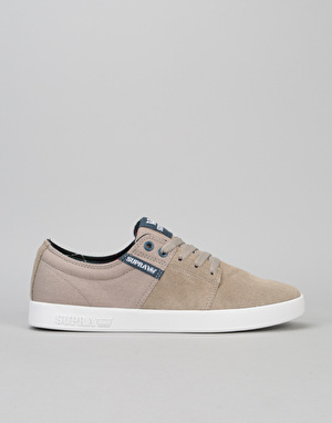 Supra Stacks II Skate Shoes - Vintage Khaki/White