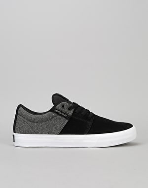 Supra Stacks II Vulc Skate Shoes - White-Black/Black