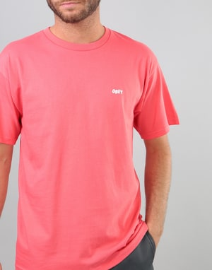 Obey Jumble Lo-Fi T-Shirt - Coral