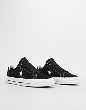 Converse One Star Pro Ox Skate Shoes - Black/White/White