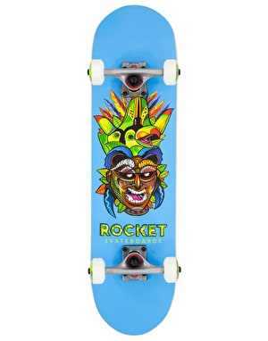 Rocket Tribal Mask Mini Complete Skateboard - 7.5