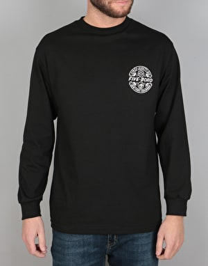 5Boro Yokohama L/S T-Shirt - Black/Off White