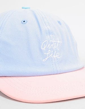 The Quiet Life Boardwalk Polo Cap - Periwinkle/Peach