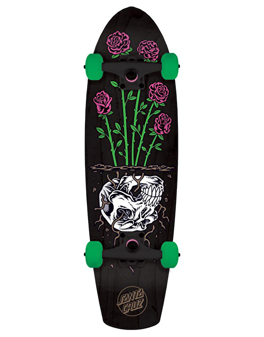 "Santa Cruz Death Rose Street Shark Cruiser - 8.8"" x 30.97"""