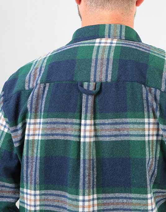 Route One Flannel Shirt - Green/Multi