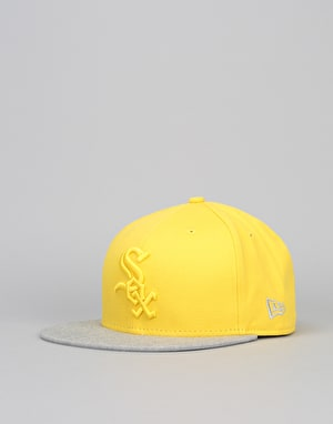 New Era 9Fifty Chicago White Sox Pop Snapback Cap - Yellow/Heather