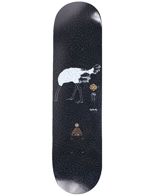 Theories x Soy Panday Ostrich Effect Skateboard Deck - 8.25""