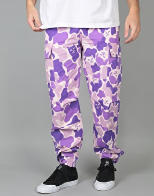 RIPNDIP Nermal Camo Cargo Pants - Purple
