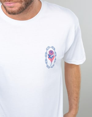 Obey x Never Made Rosette T-Shirt - White