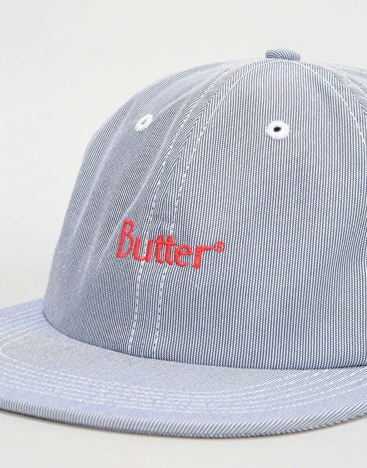 Butter Goods Pincord 6 Panel Cap - Navy
