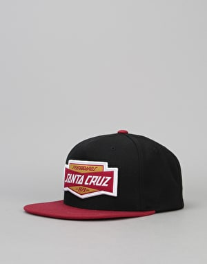 Santa Cruz Units Snapback Cap - Black/Blood
