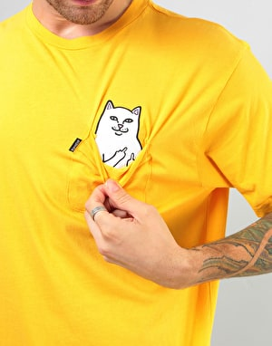 RIPNDIP Lord Nermal Pocket T-Shirt - Yellow