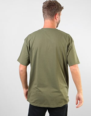 Anti Hero Lil Blackhero T-Shirt - Military Green/Yellow