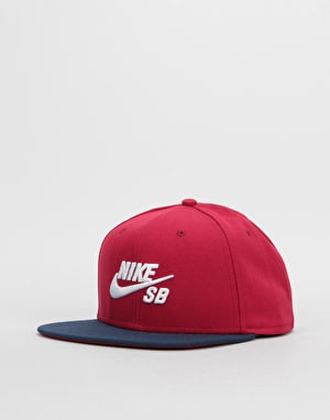 Nike SB Icon Snapback Cap - Red Crush/Obsidian/White