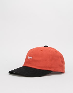 Obey 90'S Jumble Bar 6 Panel Snapback Cap - Picante/Black