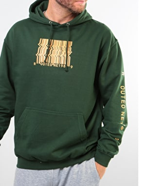 Route One Barcode Pullover Hoodie - Forest Green