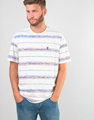Element Micky Stripe T-Shirt - Olympian Blue