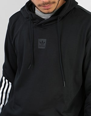 Adidas Cornered Pullover Hoodie - Black/White/Black Reflective