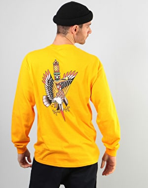 Scarred For Life Eagle & Dagger LS T-Shirt - Gold