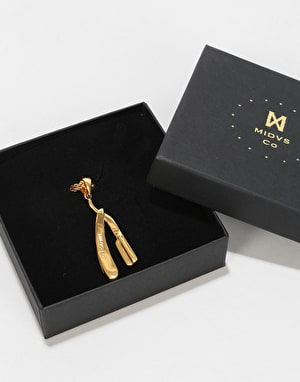 Midvs Co 18K Gold Plated Razor Necklace - Gold