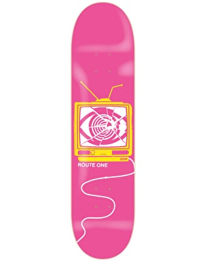 Route One Broken Broadcasting Skateboard Deck - 8.5