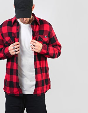 Dickies Long Sleeve Lansdale Shirt - Red