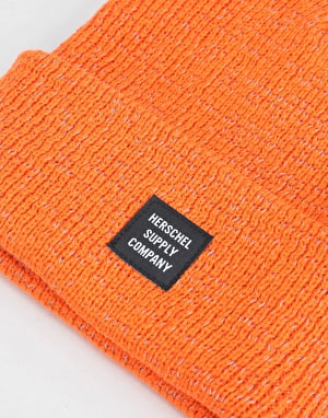 Herschel Supply Co. Reflective Abbott Beanie - Vermillion Orange