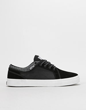 DVS Aversa+ Skate Shoes - Black/White Suede