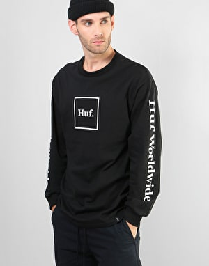 HUF Domestic Box L/S T-Shirt - Black