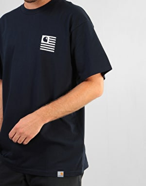 Carhartt S/S State Sports T-Shirt - Dark Navy