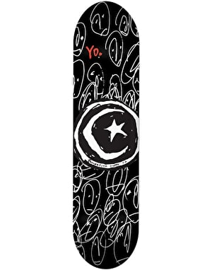 Foundation Star & Moon Yo Skateboard Deck - 8.125