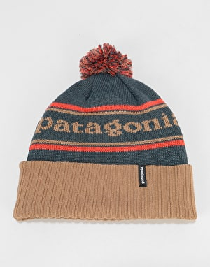 Patagonia Powder Town Beanie - Park Stripe/Viking Blue
