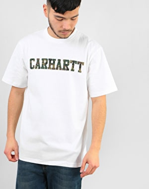 Carhartt S/S College T-Shirt - White/Camo Laurel
